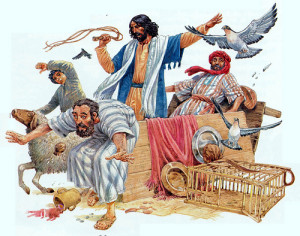 chasing out the moneychangers