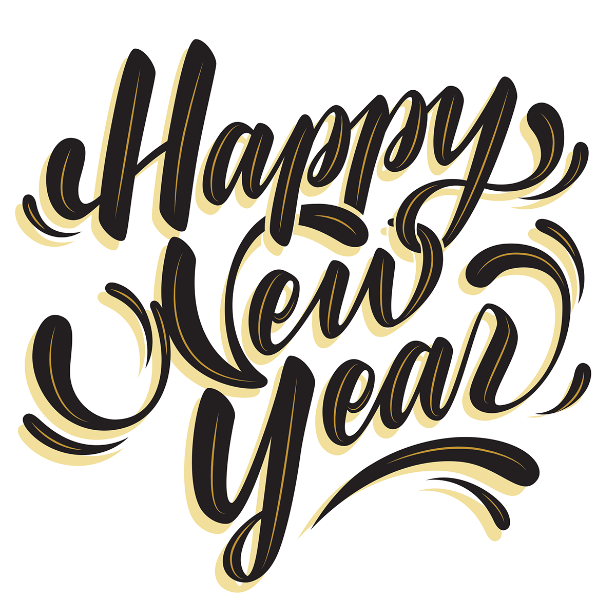 Happy New Year Lettering 26